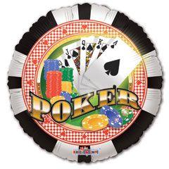 6-Poker-Chips-Metallic-18-inch-Balloon