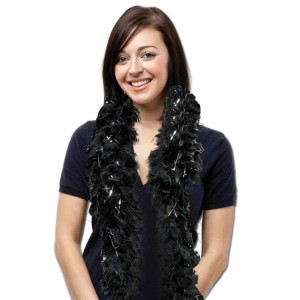 Black-Feather-Boa-With-Silver-Tinsel