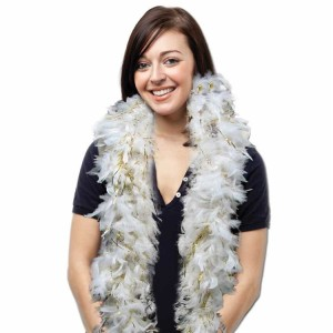 White-Feather-Boa-With-Gold-Tinsel